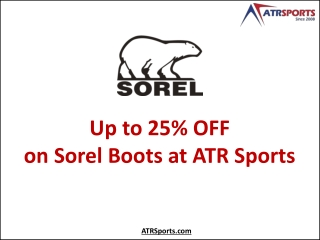 Up to 50% OFF on Sorel Boots at ATR Sports