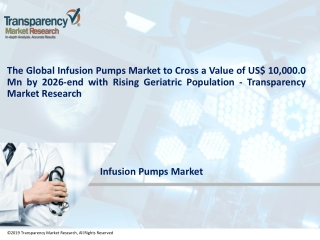 Infusion Pumps Market to touch US$10,000 Mn by 2026 | TMR