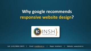 Why google recommends responsive website design?