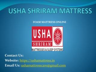 Memory Foam Mattress - Usha Shriram