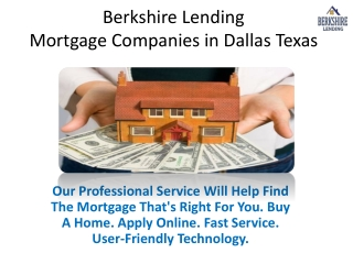 Berkshire Lending - Mortgage Companies in Dallas Texas