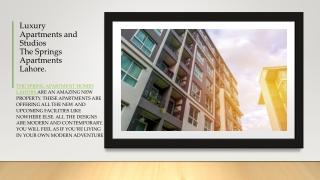Springs Apartments Lahore   Luxury Apartments & Studio