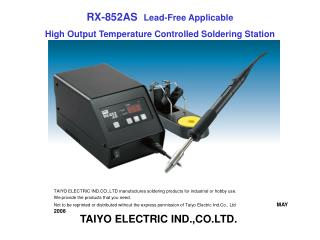 RX-852AS  Lead-Free Applicable