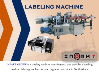 Inpakt Group - Offers Labeling Machine For Sale Service