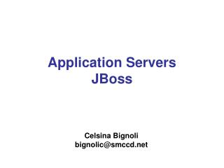 Application Servers JBoss