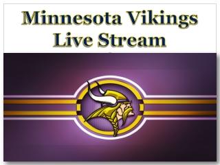 Minnesota Vikings Live Stream