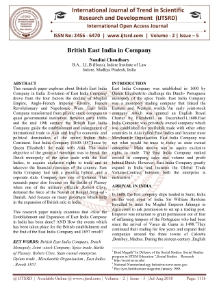 British East India in Company