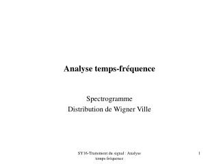Analyse temps-fr quence