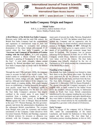 East India Company Origin and Impact