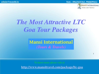 The Most Attractive LTC Goa Tour Packages