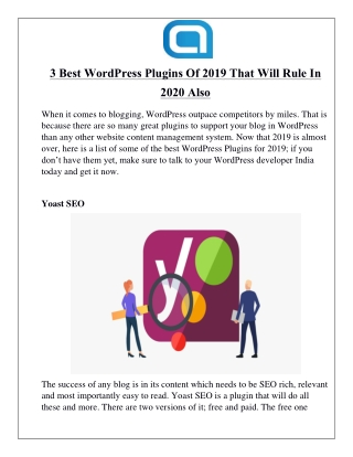 3 Best WordPress Plugins Of 2019 That Will Rule In 2020 Also