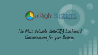 SuiteCRM Dashboard Customization | Outright Store