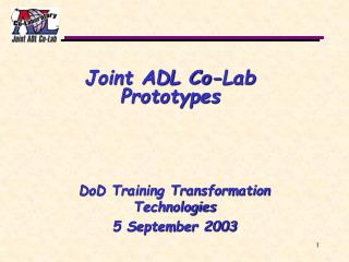 Joint ADL Co-Lab  Prototypes