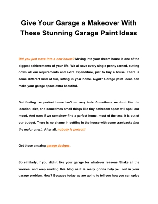 Give Your Garage a Makeover With These Stunning Garage Paint Ideas