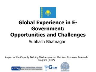 Global Experience in E-Government: Opportunities and Challenges