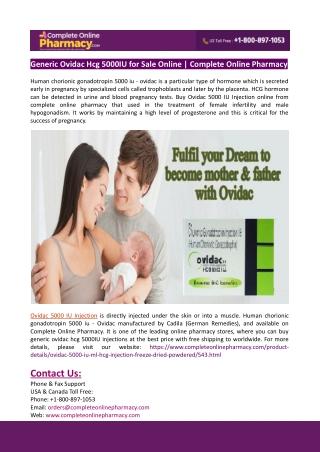 Generic Ovidac Hcg 5000IU for Sale Online