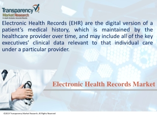 Electronic Health Records Market With a Healthy CAGR of 5.70% Between 2017-2025