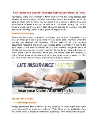 Life Insurance Denial: Reasons And Future Steps To Take