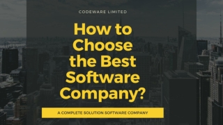Choose the Best Software Company | CodeWare Limited