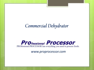 Commercial Dehydrators and Accessories