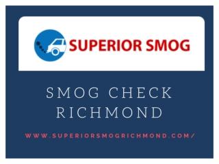 SMOG check richmond