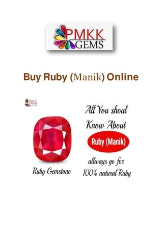 Ruby Stone Online Wholesale Dealers
