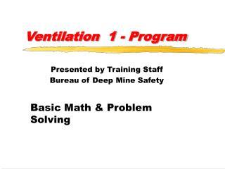 Ventilation 1 - Program