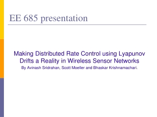 EE 685 presentation