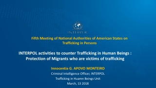 Fifth Meeting of National Authorities of American States on Trafficking in Persons