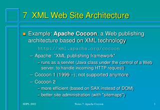 7 XML Web Site Architecture