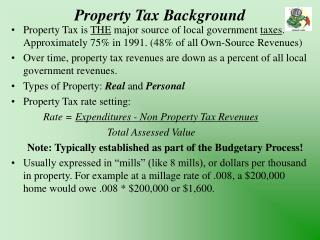 Property Tax Background