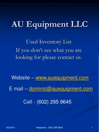 AU Equipment LLC