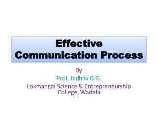 Effective Communication Process
