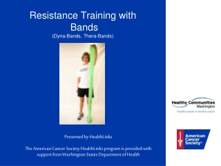 Resistance Training with   Bands (Dyna-Bands, Thera-Bands)