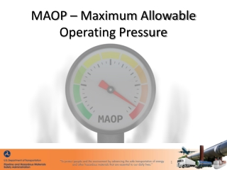 MAOP – Maximum Allowable Operating Pressure