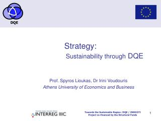 Strategy:    Sustainability through DQE