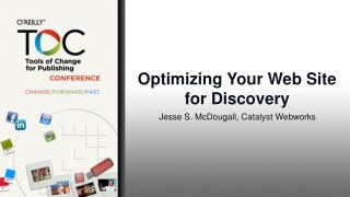 Optimizing Your Web Site for Discovery