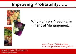 Improving Profitability