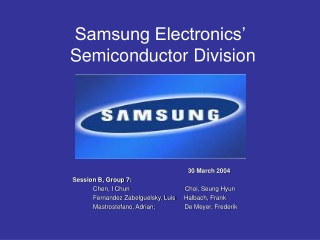 Samsung Electronics'  Semiconductor Division