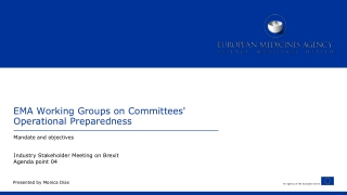 EMA Working Groups on Committees' Operational Preparedness