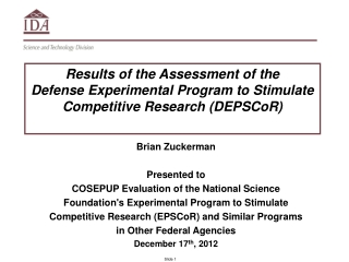 Brian Zuckerman Presented to
