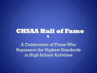 CHSAA Hall of Fame