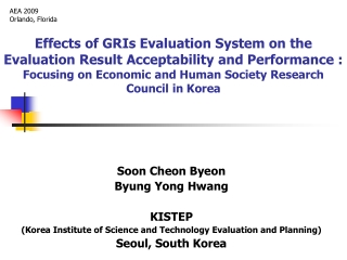 Soon Cheon Byeon Byung Yong Hwang KISTEP