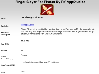 Finger Slayer For Firefox By RV AppStudios