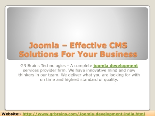 Joomla – Effective CMS Solutions For Your Business