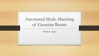 Automated Mode-Matching of Gaussian Beams