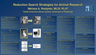 Reduction Search Strategies for Animal Research