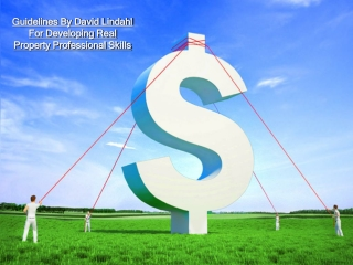 Guidelines By David Lindahl For Developing Real Property Pro