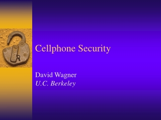 Cellphone Security
