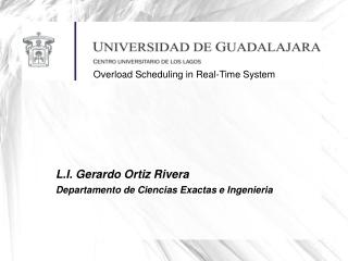 L.I. Gerardo Ortiz Rivera Departamento de Ciencias Exactas e Ingenieria